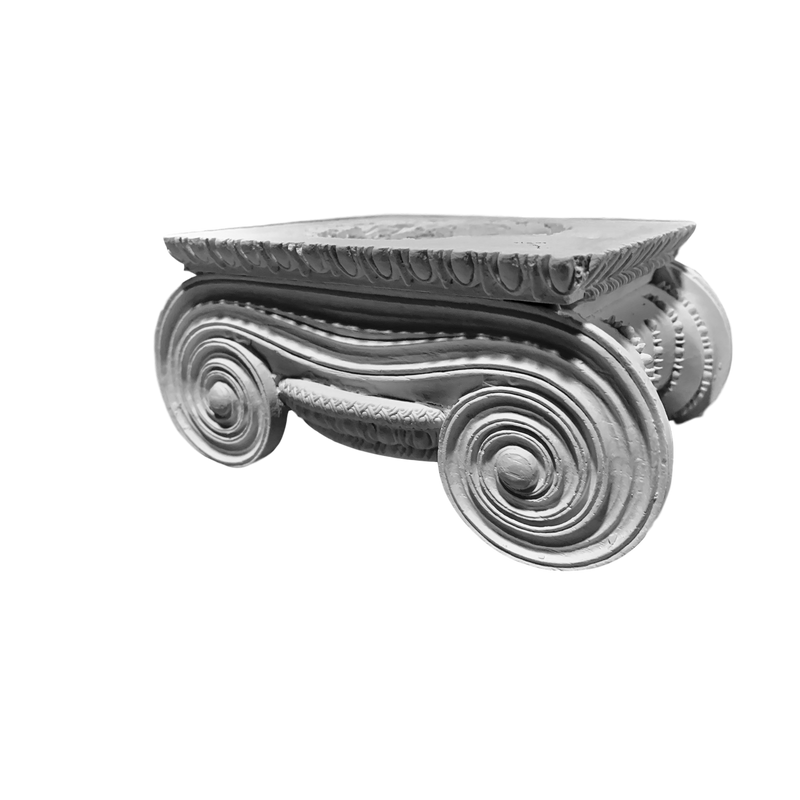 Plaster Capital [Round] - Greek Ionic Erechtheum