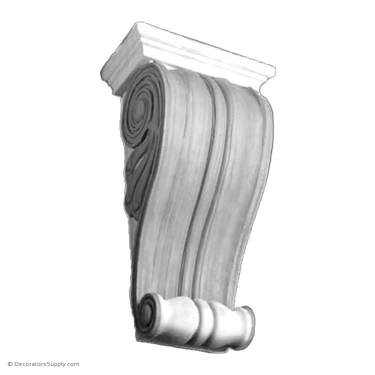 Plaster Corbel - Classic Keystone-varied-sizes-Decorators Supply