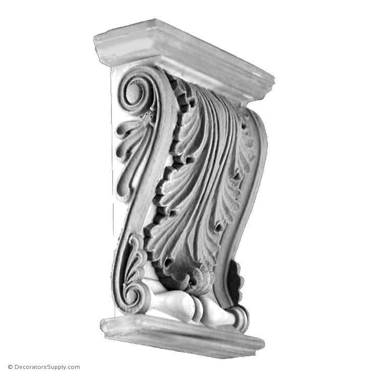 Plaster Trim Bracket - Greek Zeus-varied-sizes-Decorators Supply