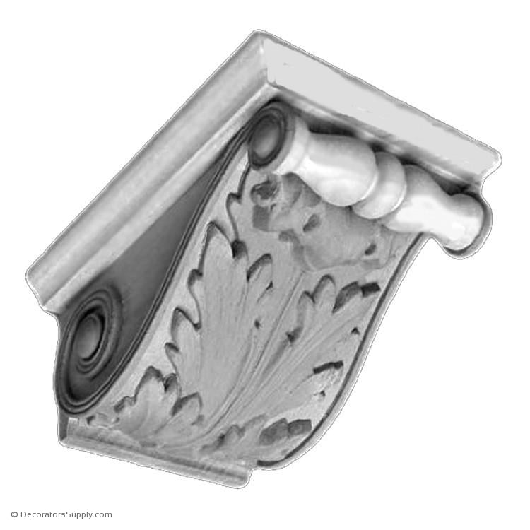 "Plaster Corbel-Renaissance-3 3/4""W x 5""P x 2 3/8""D-varied-sizes-Decorators Supply"