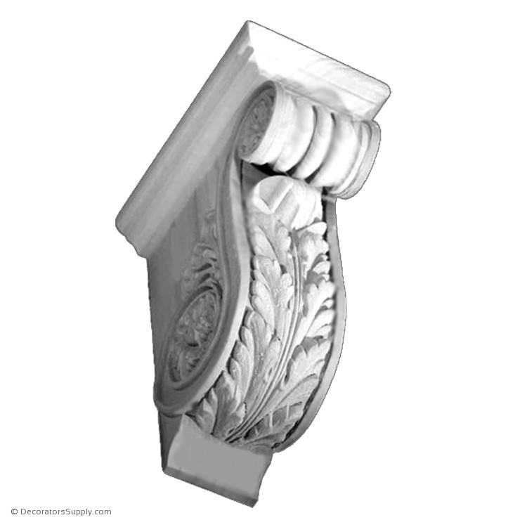 "Plaster Corbel-Renaissance- 2 3/4""W x 4 1/2""P x 6 1/4""D-varied-sizes-Decorators Supply"