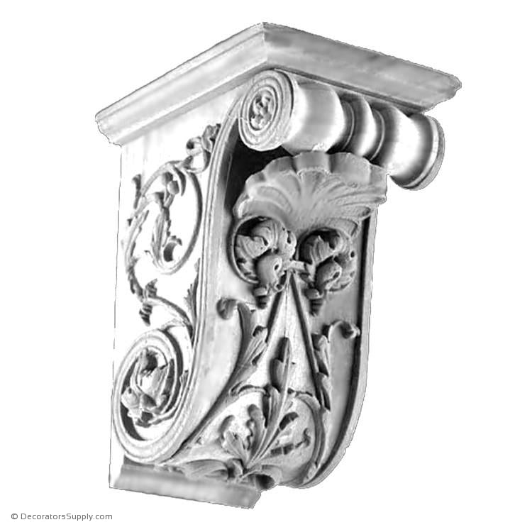 Plaster Corbel - Italian Renaissance Cecile-varied-sizes-Decorators Supply