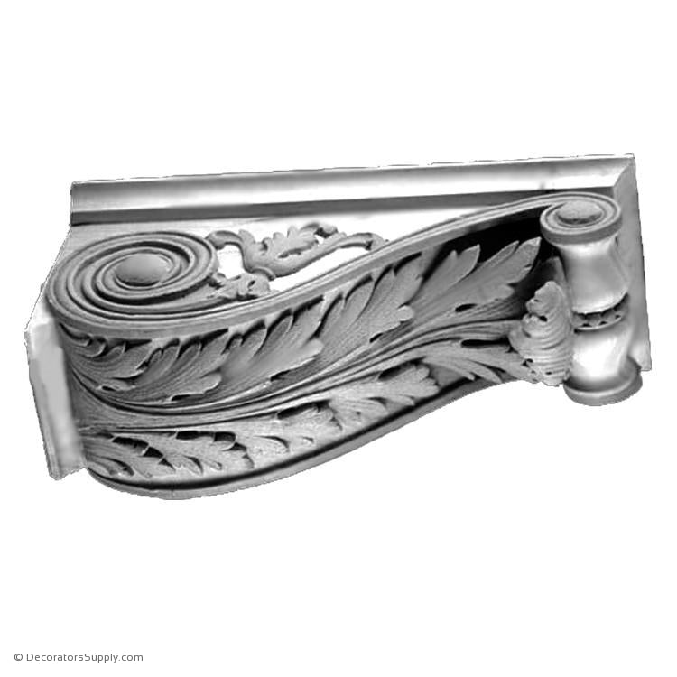 Plaster Corbel - Modern Renaissance Semi-Classic A-varied-sizes-Decorators Supply