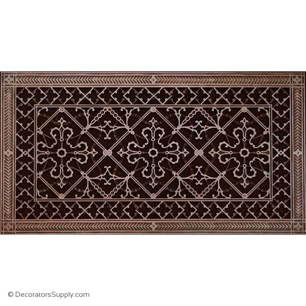 RESIN ARTES & CRAFTS GRILLE - 12X24 DUCT, 14 X 26 FRAME-BAI HVAC Grille-vent-cover-Decorators Supply