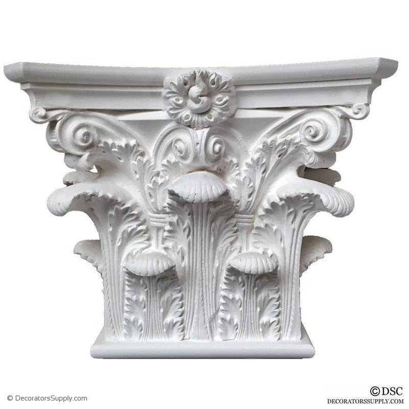 Plaster Pilaster Capital [Half Square] - Roman Corinthian Pantheon-Decorators Supply