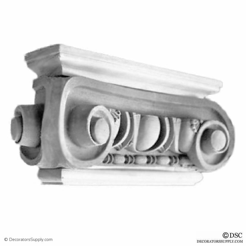 Plaster Pilaster Capital [Half Square] - Roman Angular Ionic Naples-Decorators Supply
