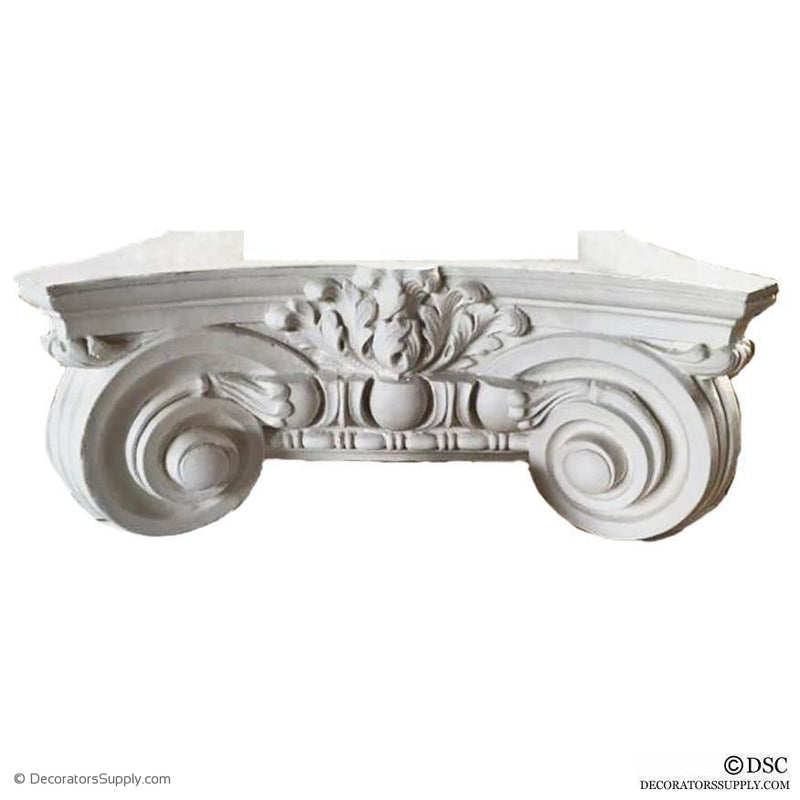 Plaster Pilaster Capital [Half Square] - Italian Renaissance Ionic Scamozzi-Decorators Supply