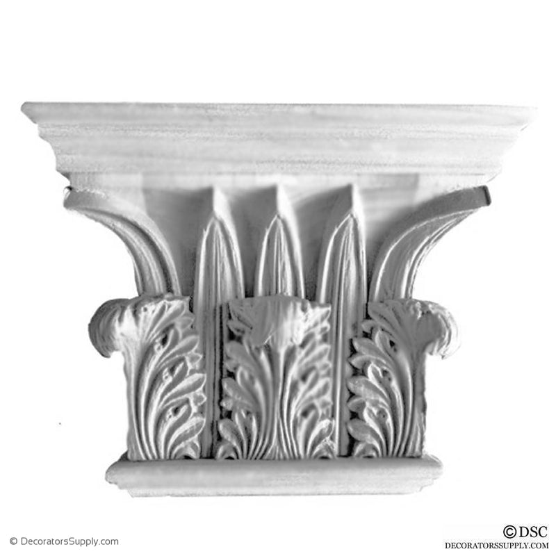 Plaster Pilaster Capital [Half Square] - Greek Corinthian Temple of the Winds-Decorators Supply