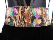 Load image into Gallery viewer, Vintage 1970s Velvet and Lame' waistband pencil skirt
