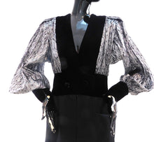 Load image into Gallery viewer, Vintage1980s metallic and velvet party dress by Jacqueline de Ribes