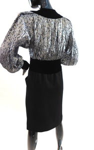 Vintage1980s metallic and velvet party dress by Jacqueline de Ribes