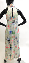 Load image into Gallery viewer, 1970s Graphic pixel dots maxi dress