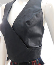 Load image into Gallery viewer, 1990s Leather wrap style corset