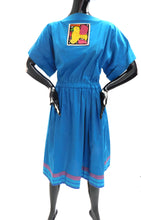 Load image into Gallery viewer, Vintage 1980s San Antonio artisan day dress