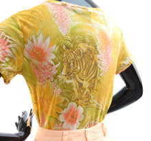 Load image into Gallery viewer, Vintage 1970s novelty print tiger blouse by Toni