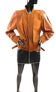 Vintage late 1970s leather jacket with piping from the estate of Tanya Tucker