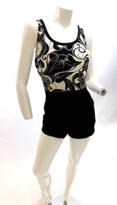 Vintage 1960s curvy girl playsuit