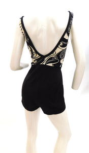 Vintage 1960s curvy girl one piece swimsuit