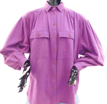 Load image into Gallery viewer, Vintage 1970s soft gauzy cotton blouse with embroidered Phoenix