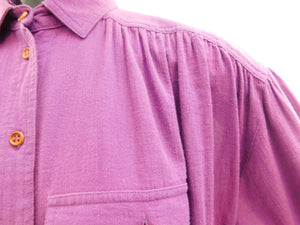 Vintage 1970s soft gauzy cotton blouse with embroidered Phoenix