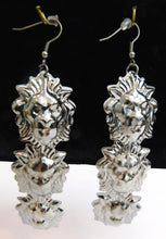 Load image into Gallery viewer, New triple lion drop earrings silver or gold