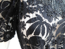 Load image into Gallery viewer, Vintage 1930s Beads and lace evening gown with front panel
