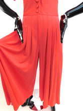 Load image into Gallery viewer, Vintage 1970s James Daugherty Pleated Palazzo liquid Jumpsuit