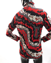 Load image into Gallery viewer, Vintage 1970s Novelty Psychedelic cartoon tiger print blouse
