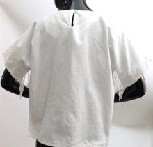 Load image into Gallery viewer, Vintage 1980s raw cotton fringe blouse made in Guatemala