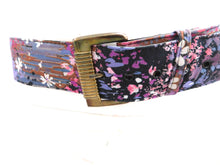 Load image into Gallery viewer, Vintage 1970s floral belt with gold buckle