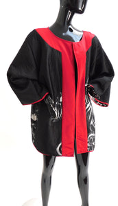 Vintage Wearable art reversible Kimono jacket by Michael Vollbracht