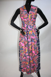 Vintage 1970s Psychedelic print maxi dress