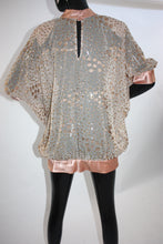 Load image into Gallery viewer, Vintage 1980s Sheer and shiny glitter tunic