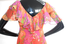 Vintage 1970s Tangerine dream floral maxi dress