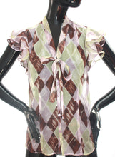 Load image into Gallery viewer, Vintage 1990s Jean Paul Gaultier gauzy chiffon blouse