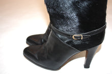 1970s Pony hair high heeled boots