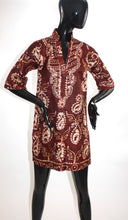 Load image into Gallery viewer, Vintage 1970s Bangalore batik silk tunic