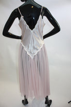 Load image into Gallery viewer, Blush pink Vintage Victorias Secret floral applique and chiffon nightie
