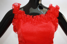 Load image into Gallery viewer, Vintage 1980s Red Ruffle Flamenco dress