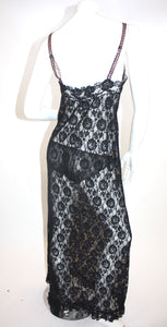 Vintage1960s lace nightie with hip hugger panties