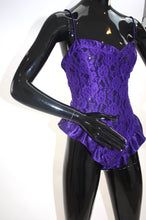 Load image into Gallery viewer, Vintage 1990s Victorias Secret high cut ruffle teddy