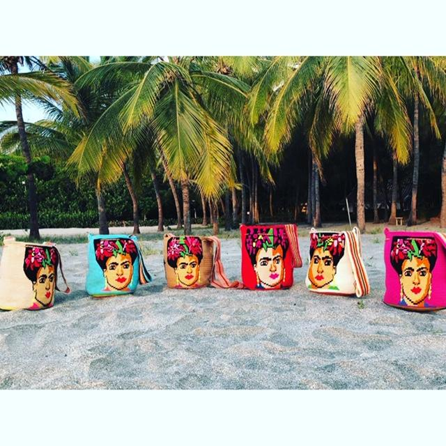 Handmade novelty Frida Face bag made in Colombia