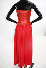 Load image into Gallery viewer, Vintage 1970s Candy Apple Red Disco dress
