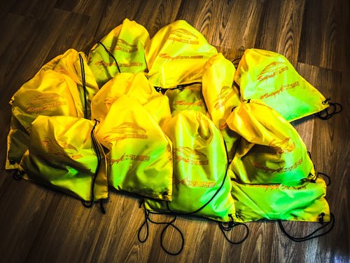 Scrape N Cruise Branded Nylon RagBag/Yellow