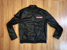 Scrape N Cruise Black Faux Leather Car Club Jacket