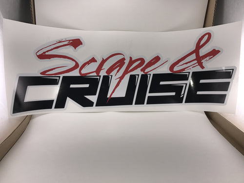 Scrape N Cruise Full Color Car Club Banner 20