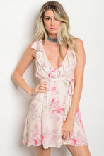 Peach Floral Ruffle Sundress