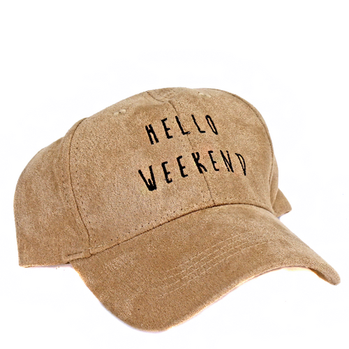Hello Weekend Suede Hat