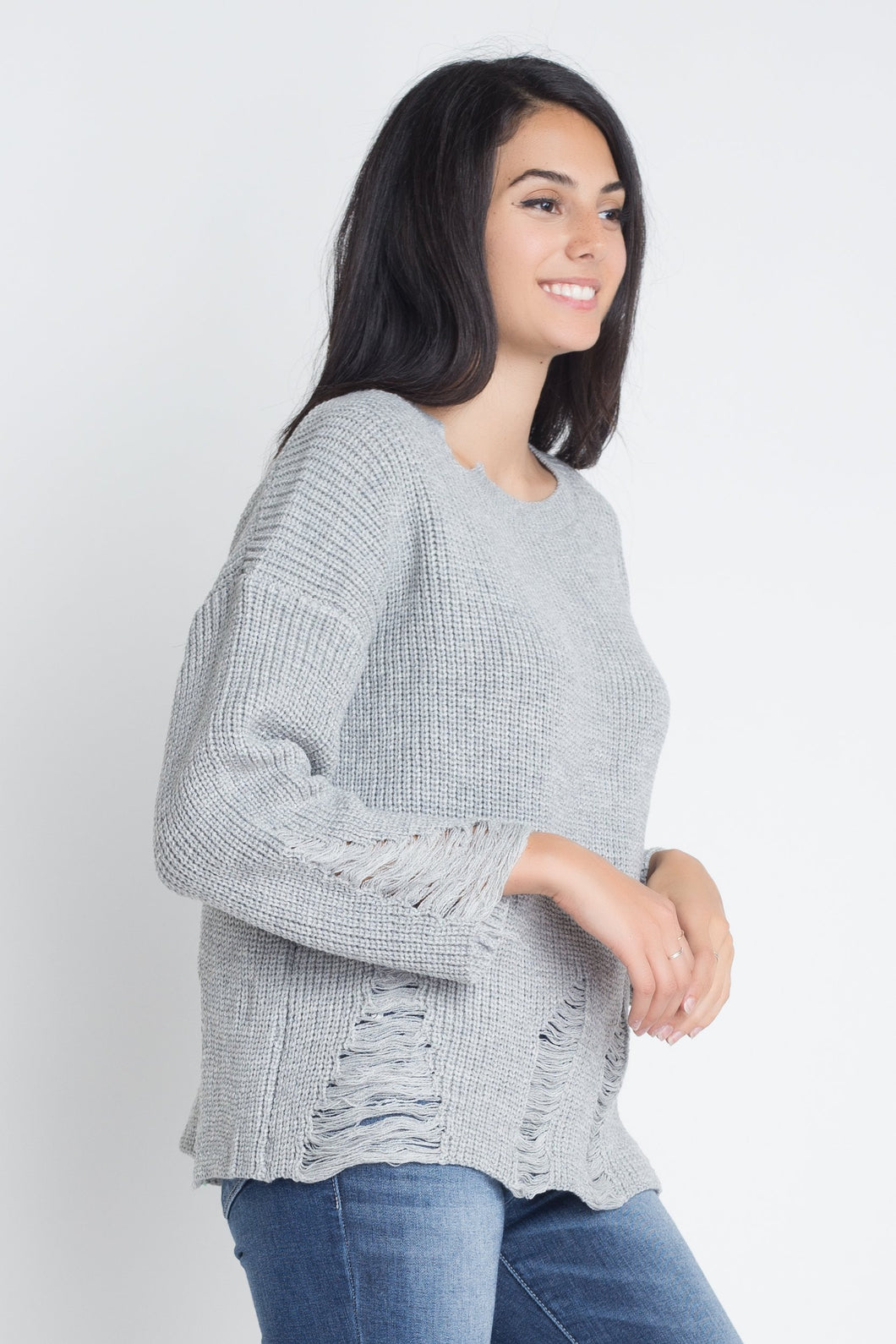 Hollow Neck Loose Sweater