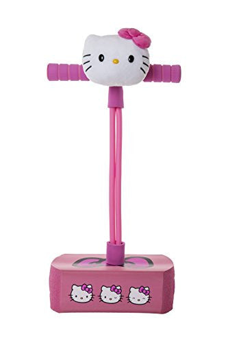 My First Flybar Foam Pogo Jumper For Kids Fun and Safe Pogo Stick For Toddlers, Durable Foam and Bungee Jumper For Ages 3 and up, Supports up To 250lbs (Hello Kitty)